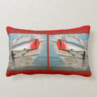 AJS Saltwater Lure Popper Americana Lumbar Pillow