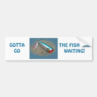 AJS Saltwater Lure Popper Blue Dragon Items Bumper Sticker