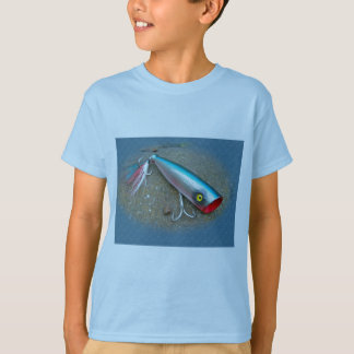 AJS Saltwater Lure Popper Blue Dragon Items T-Shirt