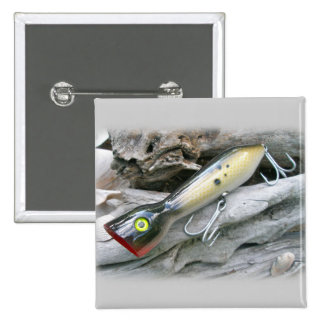 AJS Saltwater Lure Popper Coordinating Items Pinback Buttons