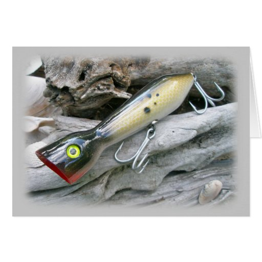 AJS Saltwater Lure Popper Coordinating Items Greeting Cards