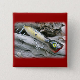 AJS Saltwater Lure Popper Coordinating Items Pinback Button