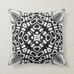 Ajuna Black White Geometric Tribal Pattern Cushion Throw Pillows