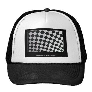 Ajusta blanco y negro gorra