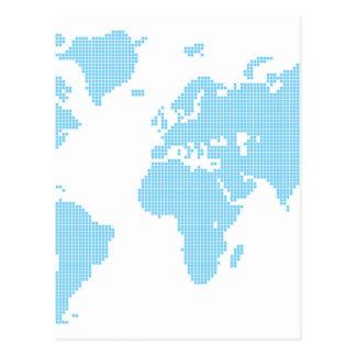 Ajusta el mapa del mundo tarjeta postal