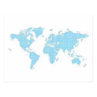 Ajusta el mapa del mundo postal