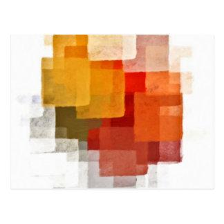 ajusta el modelo colorido de la pintura postal