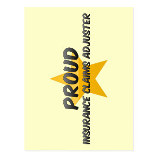 Ajustador de crédito de seguro orgulloso tarjeta postal