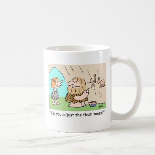 ajuste al hombre de las cavernas de los tonos de l tazas de café