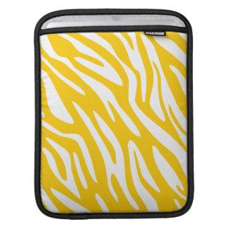 Ajuste amarillo del negro de la cebra 311 fundas para iPads