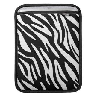 Ajuste blanco negro del negro de la cebra 311 funda para iPads