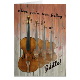 Ajuste como violín tarjeta de felicitación