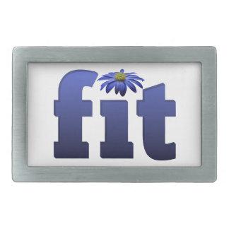 Ajuste con la flor azul hebillas de cinturon rectangulares