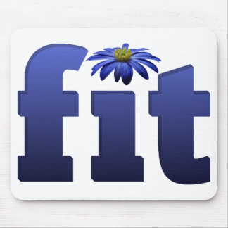 Ajuste con la flor azul tapete de ratones