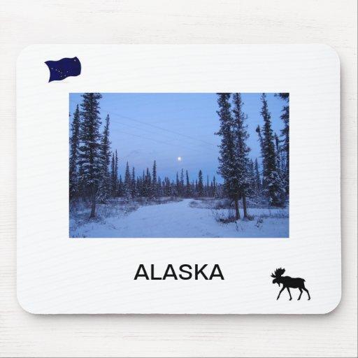 Ajuste de la luna en el mousepad de Alaska Alfombrilla De Ratón