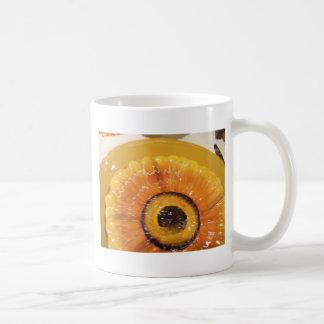 Ajuste de la placa del girasol tazas de café