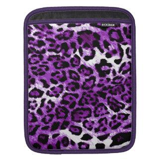 Ajuste de la púrpura del leopardo de 311 púrpuras fundas para iPads