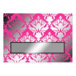 ajuste de la tarjeta de presentación del rosa del  tarjetas de visita