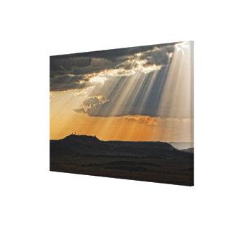 Ajuste de Sun en el Masai Mara Lienzo Envuelto Para Galerias