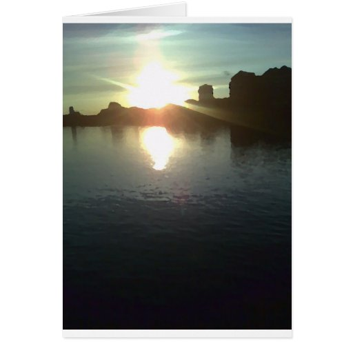 Ajuste de Sun en el Thames Tarjeta