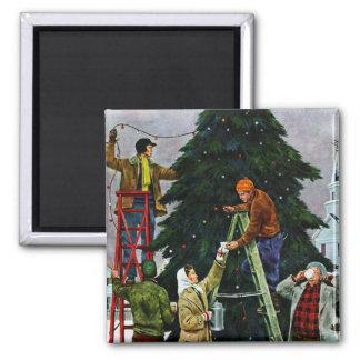 Ajuste del árbol de navidad iman de nevera