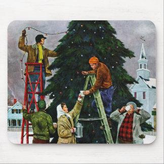 Ajuste del árbol de navidad tapetes de raton