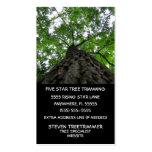 Ajuste del árbol plantilla de tarjeta de visita
