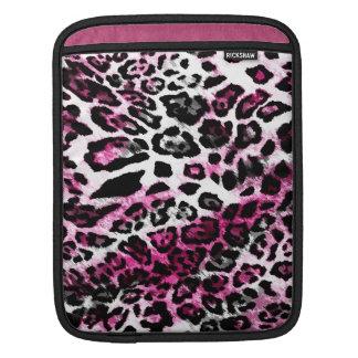 Ajuste del negro del leopardo de 311 rosas fuertes mangas de iPad