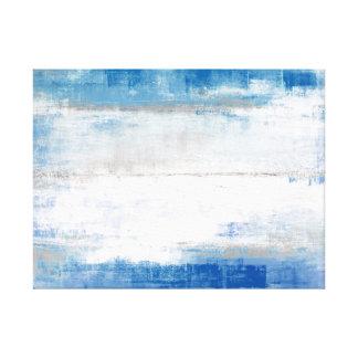 """""""Ajuste"""" el arte abstracto azul y gris Impresión En Tela"""