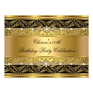Ajuste elegante 3 del negro del diamante del oro d comunicado personal