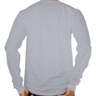 Ajuste largo de la manga de la caligrafía china camiseta