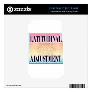 """Ajuste latitudinal "" Calcomanías Para iPod Touch 4G"
