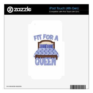 Ajuste para la reina iPod touch 4G calcomanía