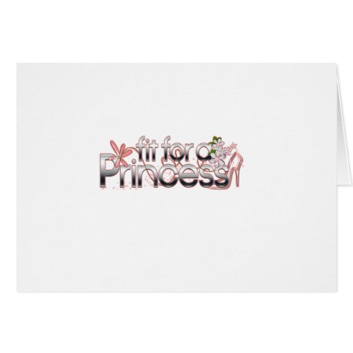 Ajuste para una princesa Girl Glass Slipper Tarjeta De Felicitación