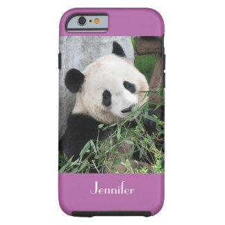Ajuste púrpura pálido lindo de la panda gigante, funda resistente iPhone 6