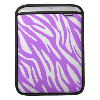 Ajuste púrpura salvaje del negro de la cebra 311 mangas de iPad