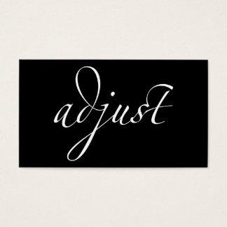 Ajuste: Quiropráctica/centrado Tarjetas De Visita