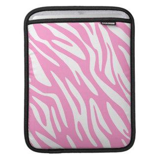 Ajuste rosado del negro de la cebra 311 mangas de iPad