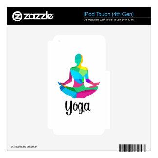 Ajuste y aptitud de la yoga calcomanías para iPod touch 4G