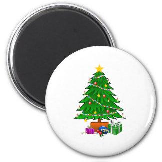 Ajustes del árbol de navidad imán de frigorifico