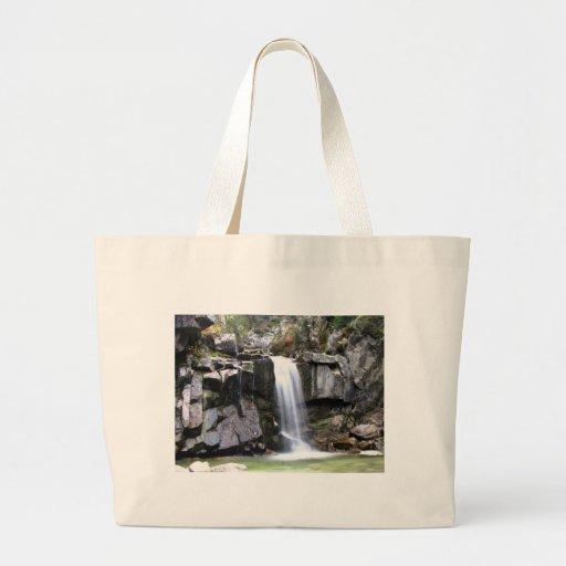 AJW Alaskan Jungle Waterfall Large Tote Bag