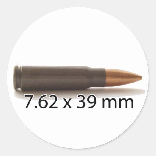 AK47 Ammo 7.62x39mm Round Sticker