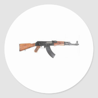 AK47 Assault rifle Classic Round Sticker