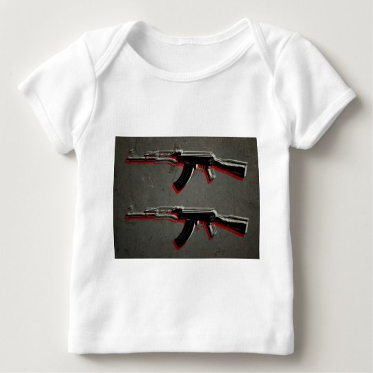 AK47 Assault Rifle Pop Art Baby T-Shirt