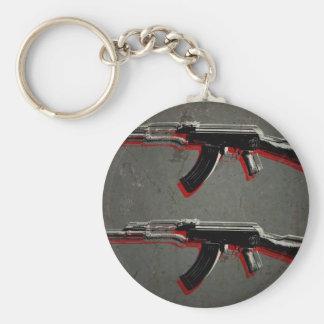 AK47 Assault Rifle Pop Art Keychain