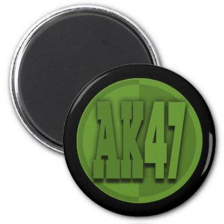 AK47 IMÁN REDONDO 5 CM