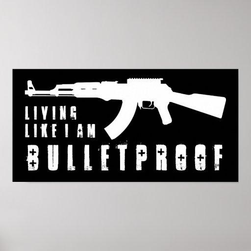 ak47: vida como soy a prueba de balas póster