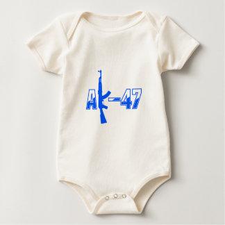 AK-47 AKM Assault Rifle Logo Blue.png Baby Bodysuit