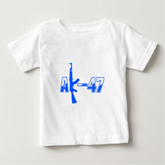 AK-47 AKM Assault Rifle Logo Blue.png Baby T-Shirt