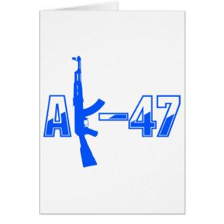 AK-47 AKM Assault Rifle Logo Blue.png Card